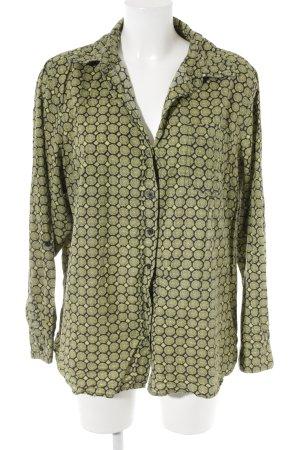 Gina Benotti Hemd-Bluse grasgrün-schwarz abstraktes Muster Casual-Look