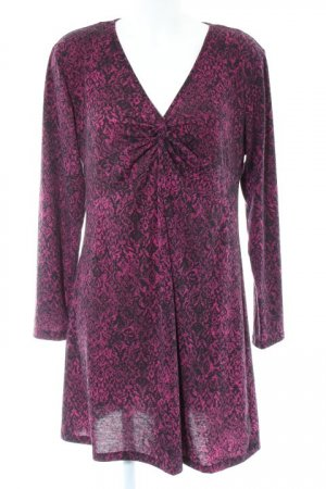 Gina Benotti Long-Bluse violett-schwarz florales Muster Casual-Look