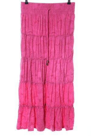 Gina Benotti Maxi Skirt pink allover print casual look
