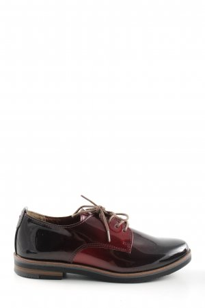 Gina Benotti Oxfords black-red color gradient elegant