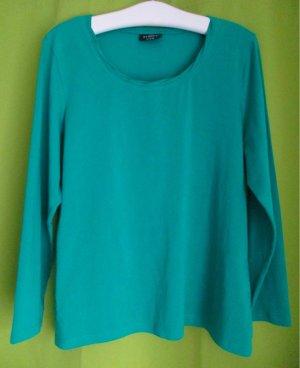 GINA BENOTTI Shirt Langarm schönes Grün oder Petrol uni XL