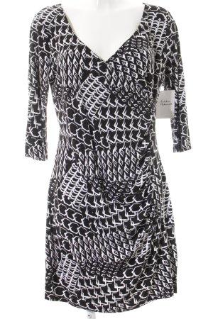 Gina Benotti Stretchkleid schwarz-weiß abstraktes Muster klassischer Stil