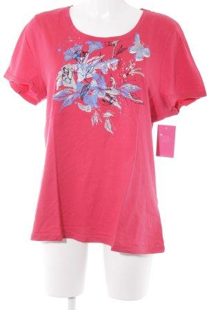 Gina Benotti T-Shirt himbeerrot Motivdruck Casual-Look