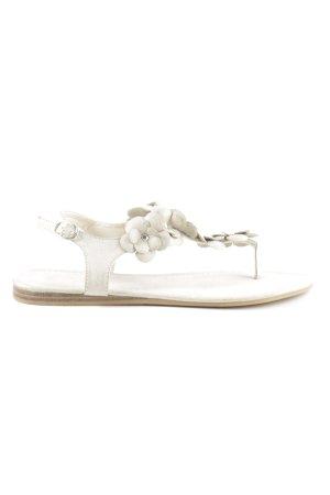 Gina Benotti Sandalo toe-post bianco sporco stile casual