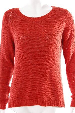 Gina Bernotti Strickpullover rot minimalistischer Stil
