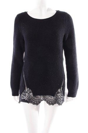 Gina Bernotti Strickpullover schwarz schlichter Stil