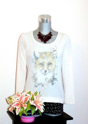 Gina Blogger Shirt gr.38/40 Pullover Print Fuchs