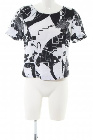 Gina Donna Linen Blouse white-black abstract pattern casual look