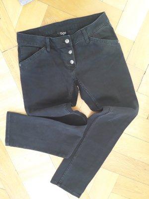 Gina Low Rise Jeans black-dark grey cotton