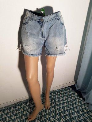 Gina Pantaloncino di jeans blu Cotone