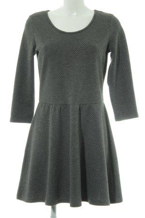 Gina Vestido de tela de jersey gris Patrón de tejido estilo clásico