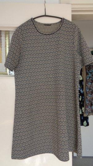 Gina B Robe chemise gris foncé-argenté lycra