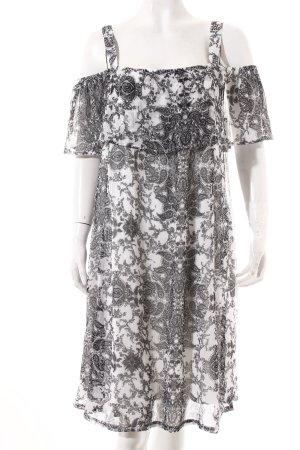 Gina Kleid schwarz-weiß florales Muster klassischer Stil