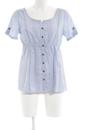 Gina Kurzarm-Bluse blau Casual-Look