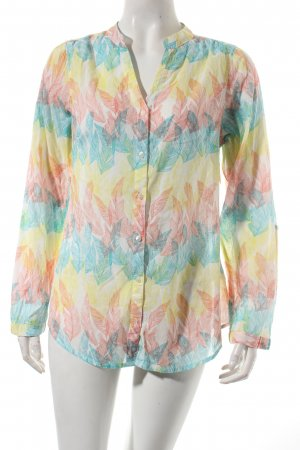 Gina Langarm-Bluse florales Muster Beach-Look