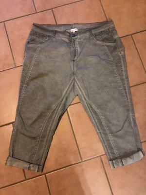 Gina Laura 7/8 Length Trousers khaki-sage green