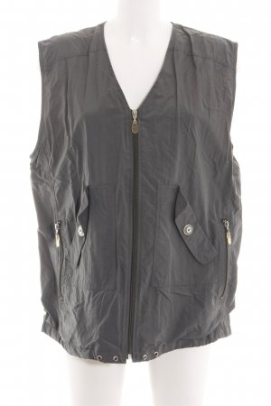 Gina Laura Biker Vest light grey athletic style