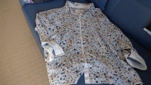 Gina Laura Cols de blouses bleu clair-blanc