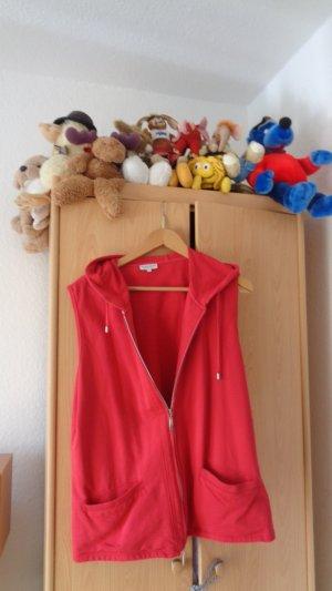 Gina Laura Felpa con cappuccio rosso Cotone