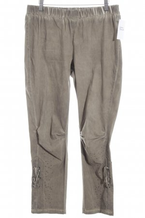 Gina Laura Peg Top Trousers light brown casual look