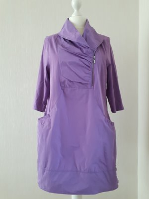 Gina Laura Stretch jurk paars Gemengd weefsel