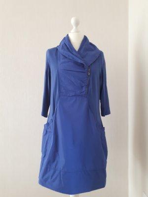 Gina Laura Stretch jurk staalblauw Gemengd weefsel