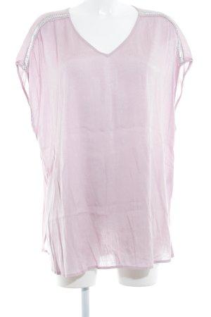 Gina Laura Kurzarm-Bluse roségoldfarben extravaganter Stil