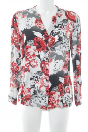 Gina Laura Langarm-Bluse florales Muster Casual-Look