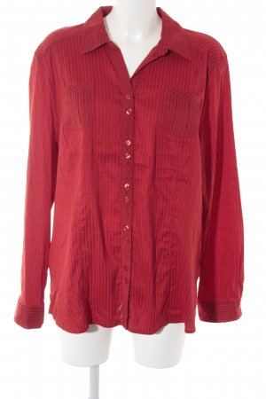 Gina Laura Langarm-Bluse rot Streifenmuster Casual-Look