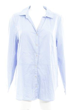 Gina Laura Langarmhemd himmelblau minimalistischer Stil