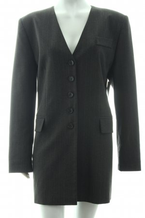 Gina Laura Long-Blazer dunkelgrau Nadelstreifen Business-Look