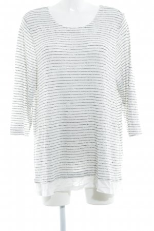Gina Laura Long Sweater natural white-black striped pattern casual look