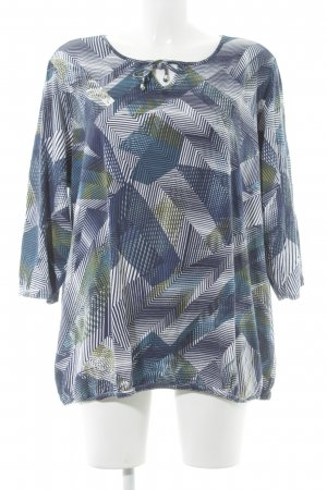 Gina Laura Oversized Bluse grafisches Muster Casual-Look