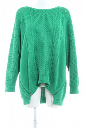 Gina Laura Rundhalspullover grün Casual-Look