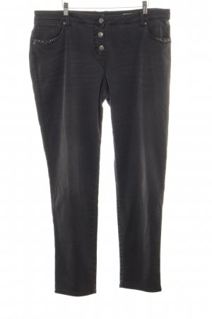 Gina Laura Slim Jeans schwarz Casual-Look