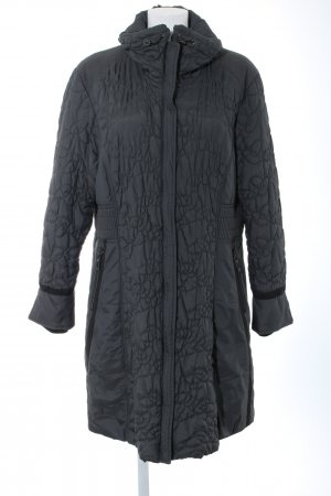 Gina Laura Quilted Coat black quilting pattern casual look