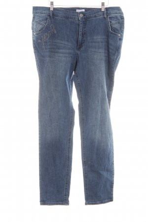Gina Laura Straight-Leg Jeans blau Casual-Look