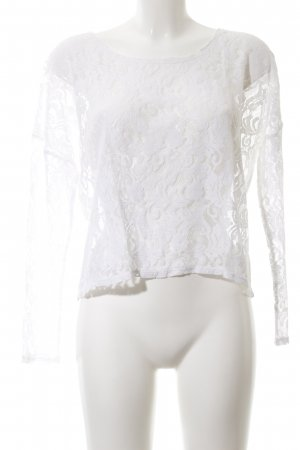 Gina Lace Blouse white casual look