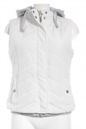 Gina Quilted Gilet white-light grey quilting pattern simple style