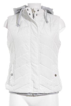 Gina Steppweste weiß-hellgrau Steppmuster schlichter Stil