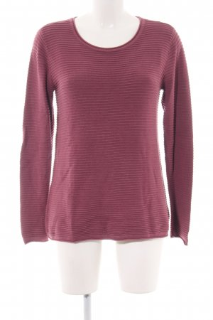 Gina Strickpullover pink Streifenmuster Casual-Look