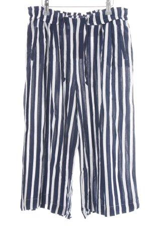 Gina Tricot 3/4-Hose blau-weiß Streifenmuster Casual-Look