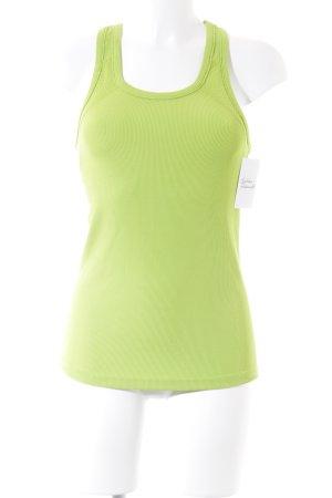 Gina Tricot Basic Top neongrün-wiesengrün sportlicher Stil