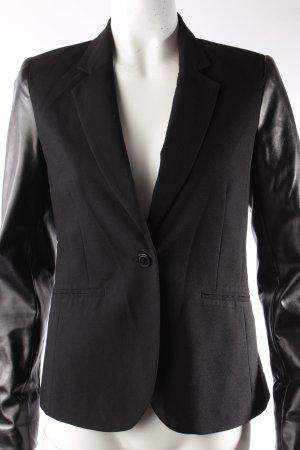 Gina Tricot Blazer mit Kunstlederärmeln schwarz