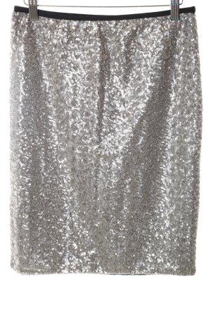 Gina Tricot Bleistiftrock schwarz-silberfarben extravaganter Stil