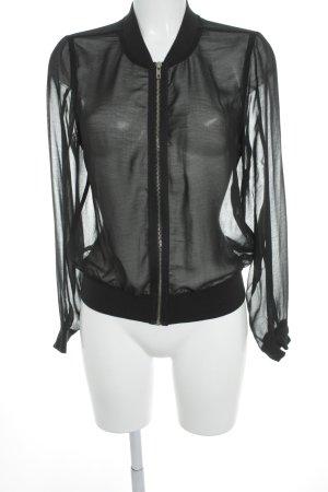 Gina Tricot Blousejack zwart simpele stijl
