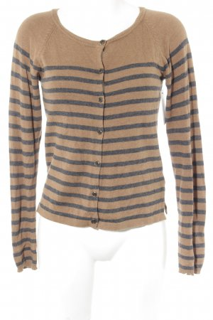 Gina Tricot Cardigan camel-dunkelgrau Streifenmuster Casual-Look