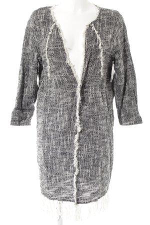 Gina Tricot Cardigan weiß-schwarz Casual-Look