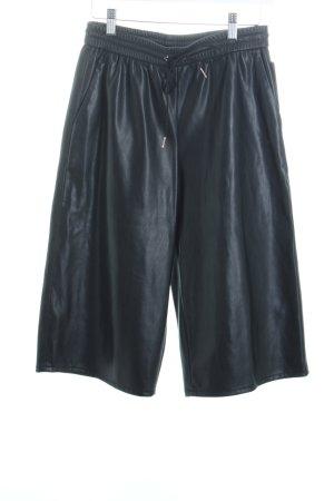 Gina Tricot Culottes schwarz Leder Optik Lederimitat Kunstleder Hose