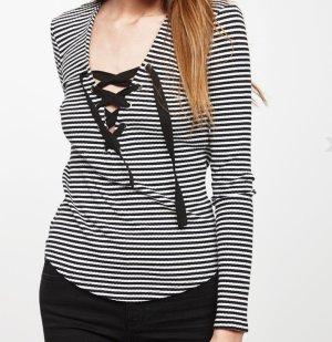 "GINA TRICOT ""Elma"" Langarmshirt Shirt Top Streifen Bänder blogger style"
